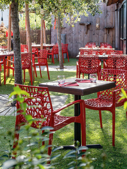 Terrasse extérieure - Restaurant La Vacherie - Restaurant à viande à Nantes (44)